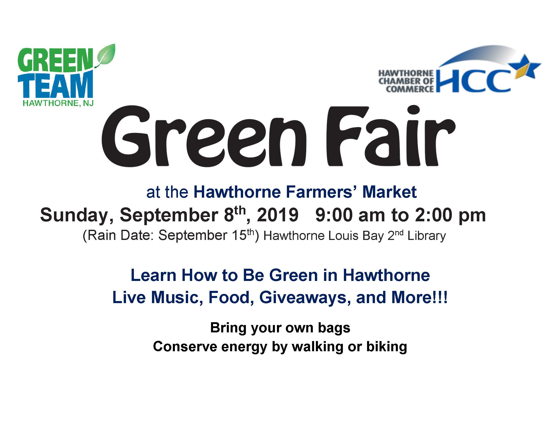2019 Green Fair Flyer